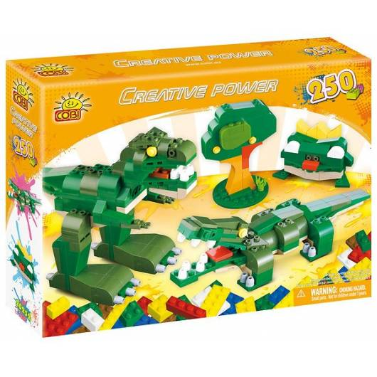 COBI Creative Power Dinozaur, krokodyl, drzewo, żaba 250 kl. (20252)