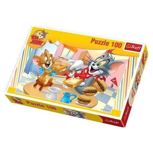 Puzzle 100 Tom i Jerry pyszne śniadanko TREFL