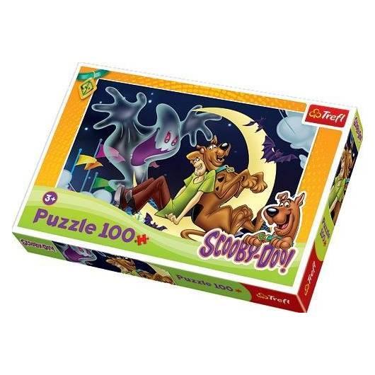 Puzzle 100 Scooby, Kudłaty i wesoły duszek TREFL