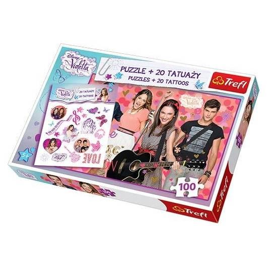 Puzzle 100 Tattoo Disney Violetta TREFL