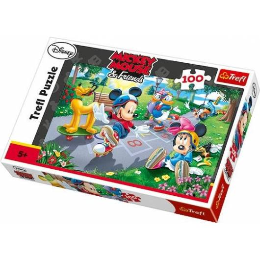 Puzzle 100 Na rolkach Mickey Mouse TREFL