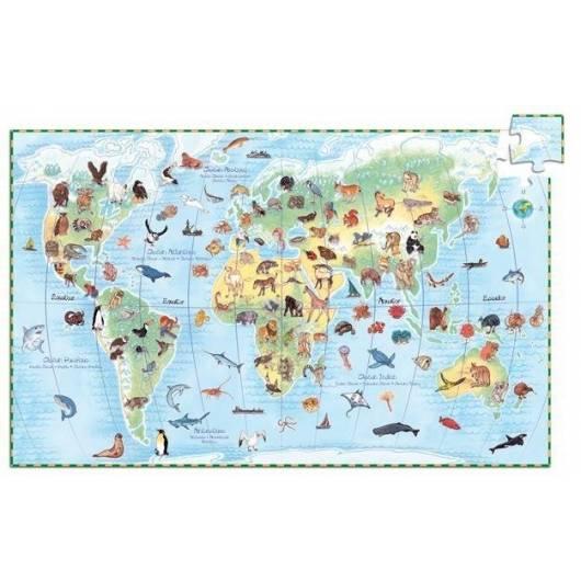 Puzzle z plakatem - Zwierzęta świata