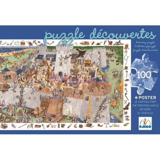 Puzzle z plakatem - Zamek