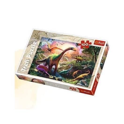 Puzzle 100 Świat dinozaurów TREFL