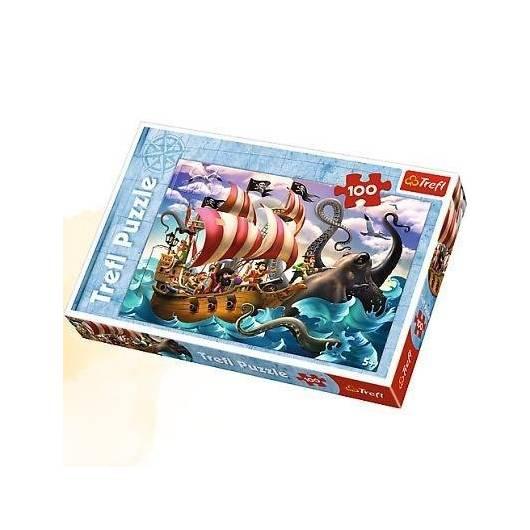 Puzzle 100 Bitwa na morzu TREFL