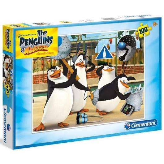 Puzzle 100 Pingwiny z Madagaskaru