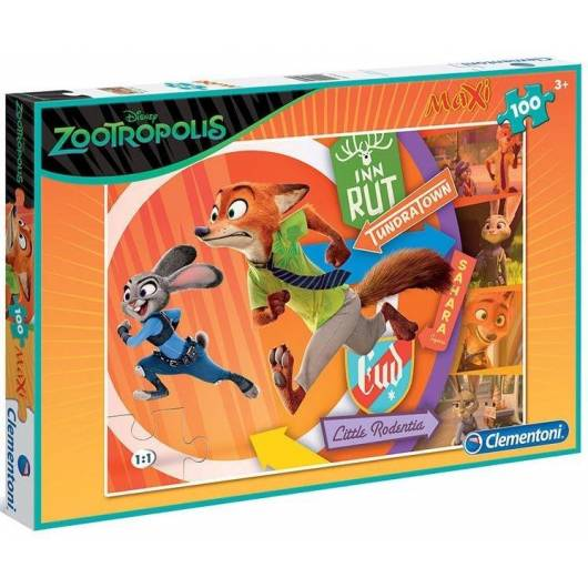 Puzzle 100 Maxi Zwierzogród