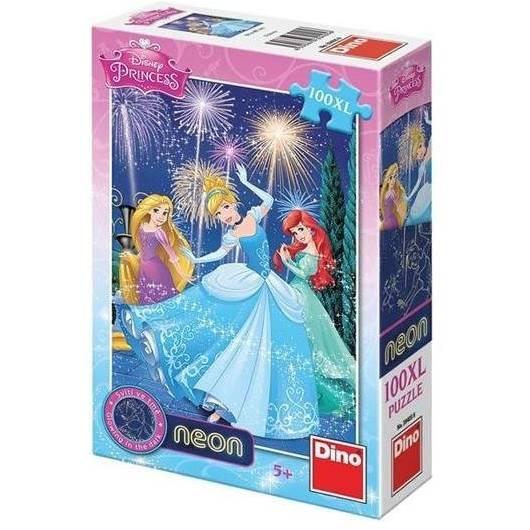 Puzzle 100 XL Neon Księżniczki DINO