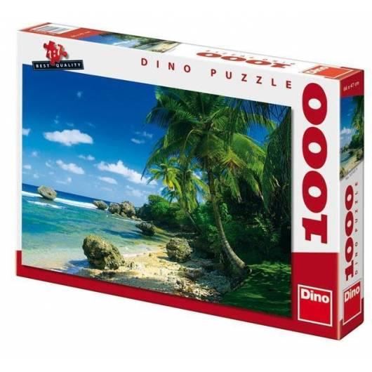 Puzzle 1000 Palmy na plaży DINO