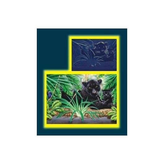 Puzzle 1000 Pantery w dżungli Neon DINO