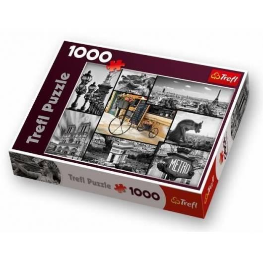 Puzzle 1000 Paryż - kolaż TREFL