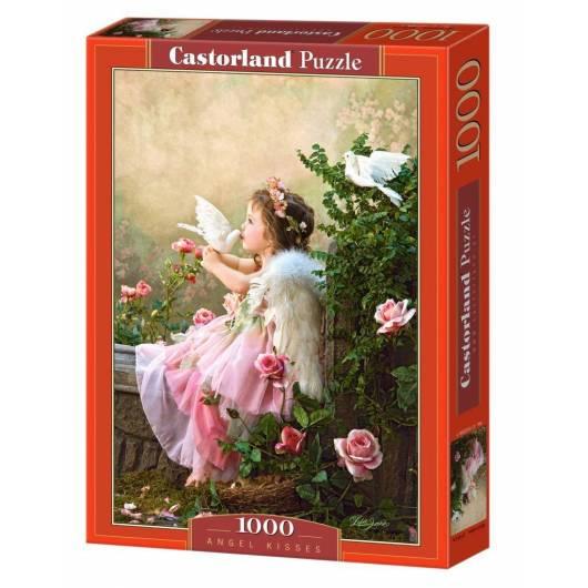 Puzzle 1000 Aniołek w różowej sukieneczce CASTOR