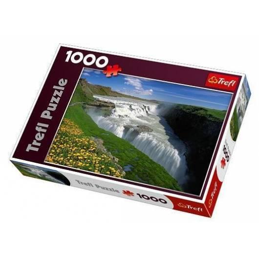 Puzzle 1000 Złote wodospady, Islandia TREFL