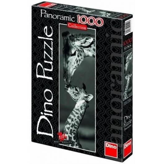 Puzzle 1000 Panorama Żyrafy DINO