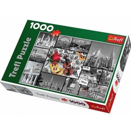 Puzzle 1000 Wiedeń - kolaż TREFL