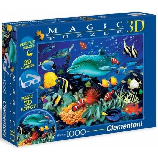 Puzzle 1000 Magic 3D Delfiny
