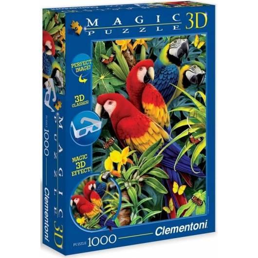 Puzzle 1000 Magic 3D Papugi