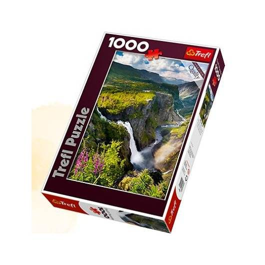 Puzzle 1000 Wodospad Voringsfossen, Norwegia TREFL