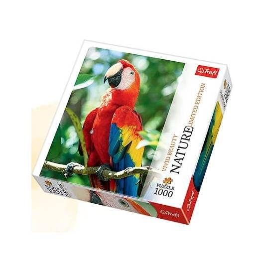 Puzzle 1000 Nature... - Ara czerwona TREFL