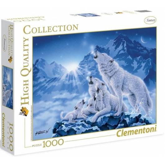 Puzzle 1000 HQ Rodzina wilków