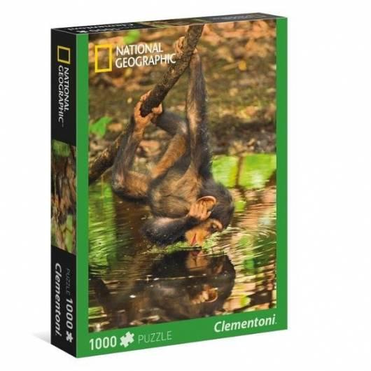 Puzzle 1000 National Geographic Szympans