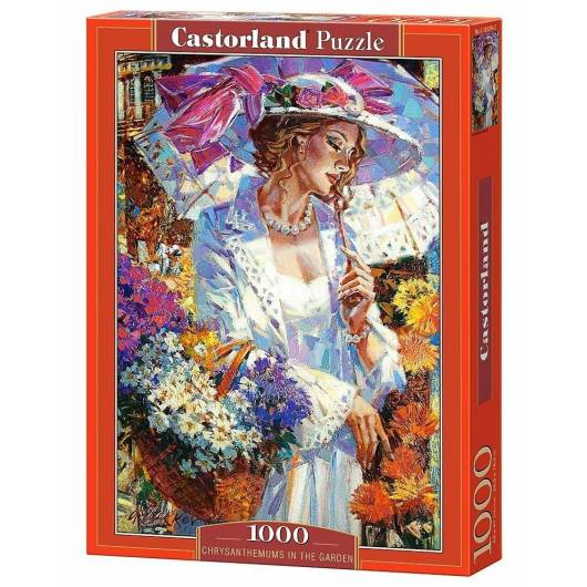 Puzzle 1000 Chryzantemy w ogrodzie CASTOR