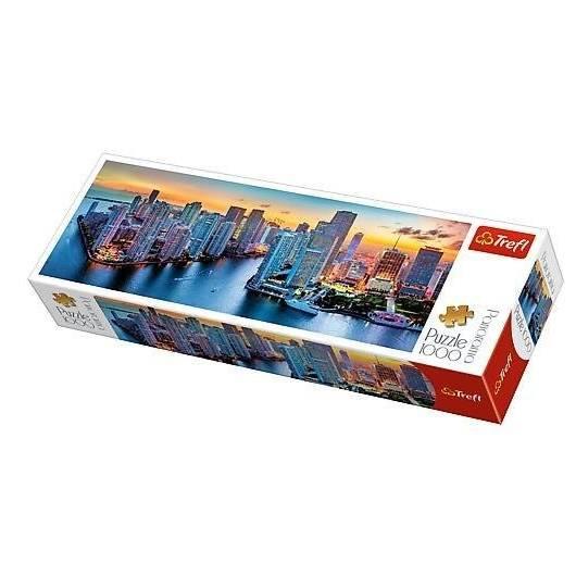 Puzzle 1000 Panorama - Miami o zmroku TREFL