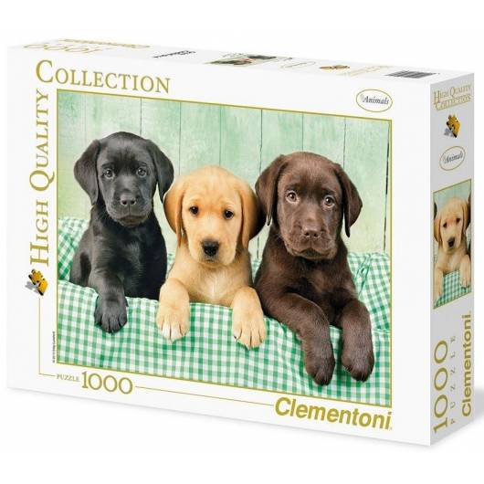 Puzzle 1000 HQ I tre Labrador