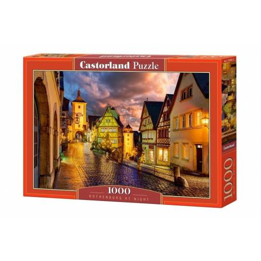 Puzzle 1000 Rothenburg at Night CASTOR