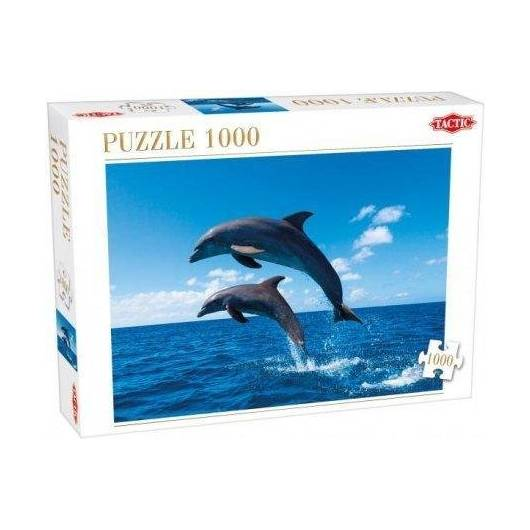 Puzzle 1000 Two Dolphins Jumping