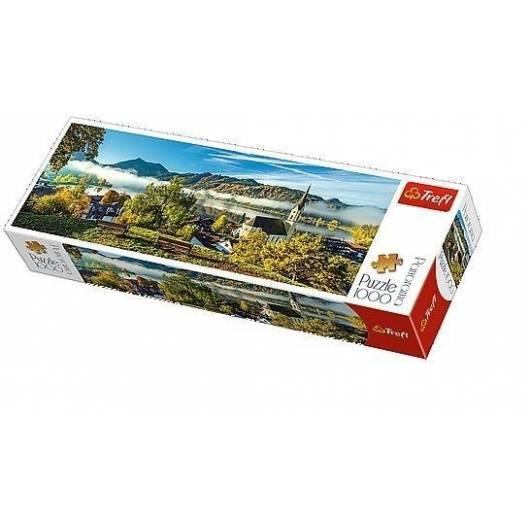 Puzzle 1000 Panorama - Nad jeziorem Schliersee TRE
