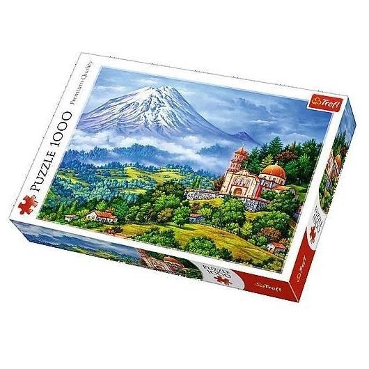 Puzzle 1000 Pejzaż z wulkanem TREFL