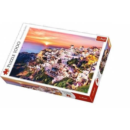 Puzzle 1000 Zachód słońca nad Santorini TREFL