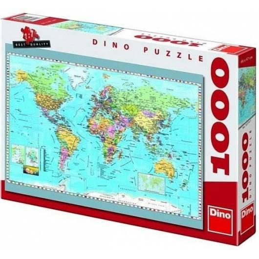 Puzzle 1000 Mapa Polityczna DINO