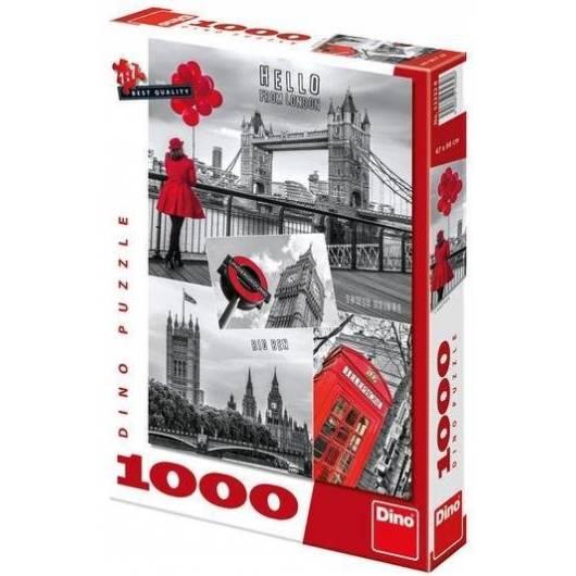Puzzle 1000 Londyn kolaż DINO