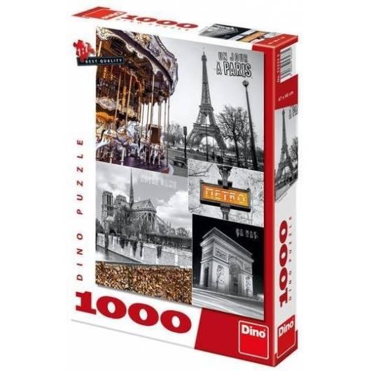 Puzzle 1000 Paryż kolaż DINO