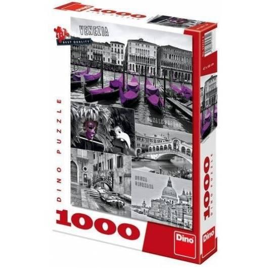 Puzzle 1000 Wenecja kolaż DINO