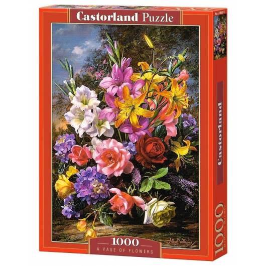 Puzzle 1000 Wazon z kwiatami CASTOR