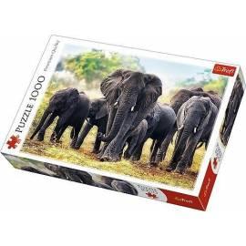 Puzzle 1000 Afrykańskie słonie TREFL