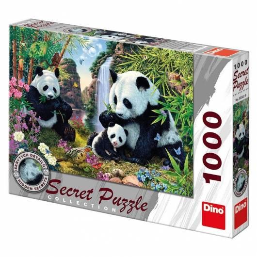 Puzzle 1000 Sekretna kolekcja Pandy DINO