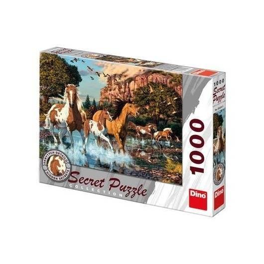 Puzzle 1000 Sekretna kolekcja Konie DINO