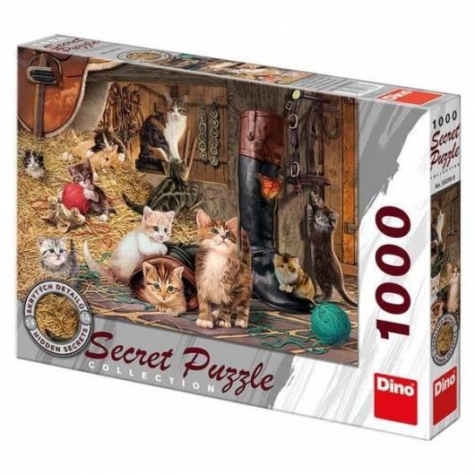 Puzzle 1000 Sekretna kolekcja Koty DINO