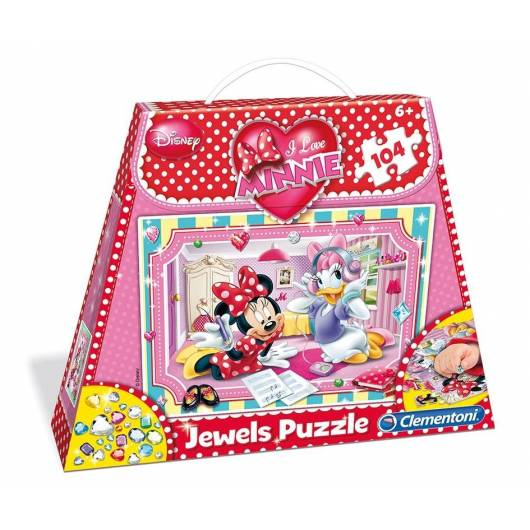 Puzzle 104 Torebka Minnie Ozdoby Jewels