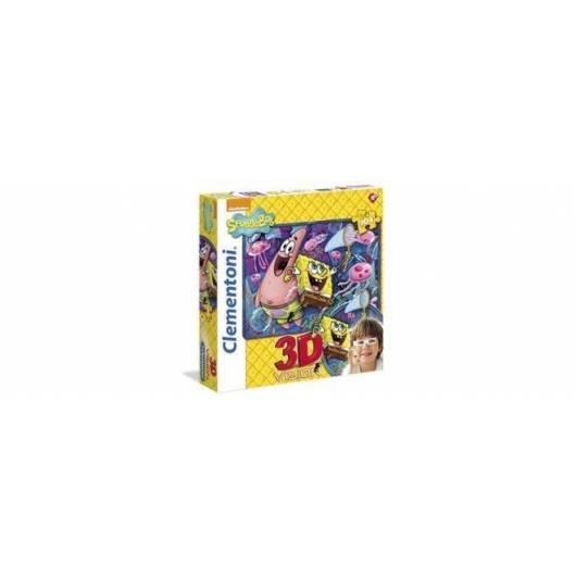 Puzzle 104 3D Vision Sponge Bob