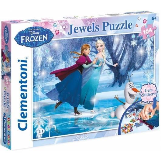 Puzzle 104 Kraina Lodu Ozdoby