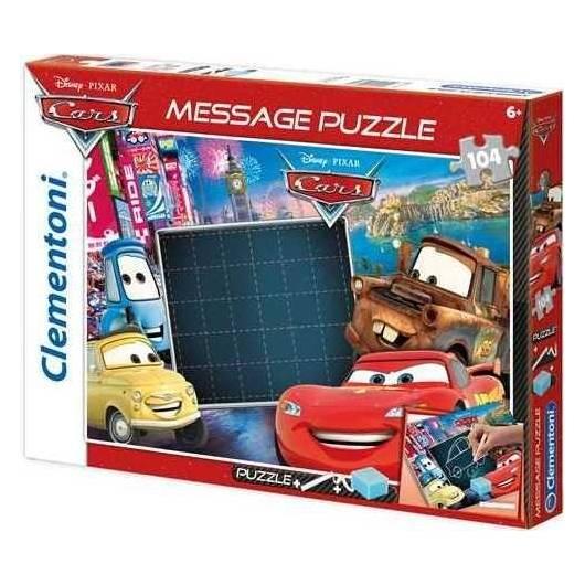 Puzzle 104 Message Auta