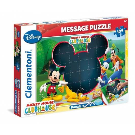 Puzzle 104 Message Klub przyjaciół Myszki Mickey