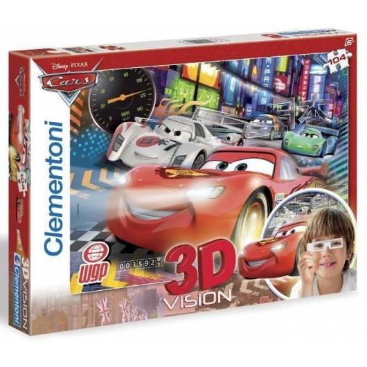 Puzzle 104 3D Vision Auta