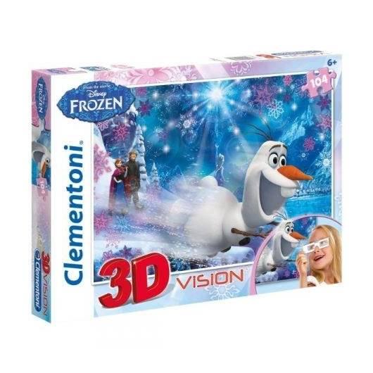 Puzzle 104 3D Vision Kraina Lodu