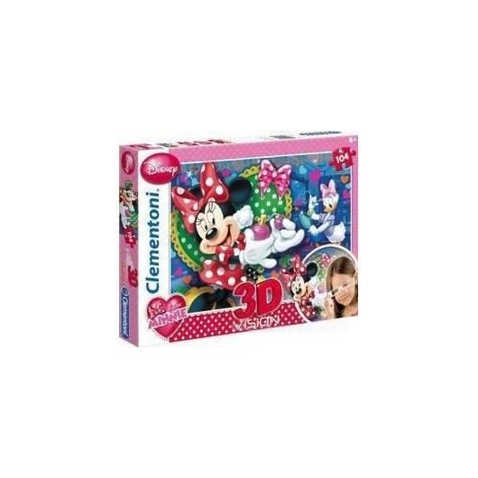 Puzzle 104 3D Vision Minnie